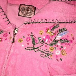 Juicy Couture Terry Track Zipper Hoodie